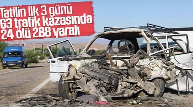 Bayram Tatili Yolunda Kaza Bilançosu