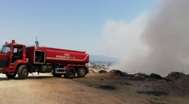 Turgutlu'da Otluk Alanda Yangın