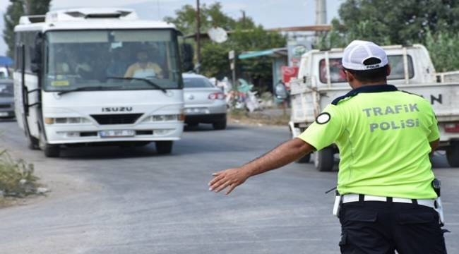 Turgutlu Polisinden Tarım İşçilerinin Taşınmasına Yönelik Denetim