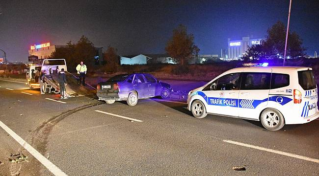 Turgutlu'da Kaza Yapan Sürücü 240 Promil Alkollü Çıktı