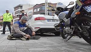Turgutlu'da Trafik Cezasına Sinirlenen Kişi Yola Oturdu