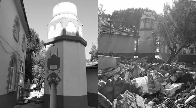 Akhisar'daki Depremde Hasar Oluşan Cami Minareleri Yıkıldı