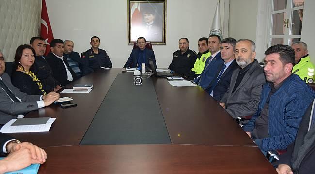 Turgutlu'da Otobüs Kazalarının Önlenmesine Yönelik Toplantı