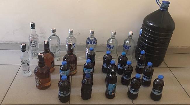 Turgutlu'da Sahte İçki Operasyonu