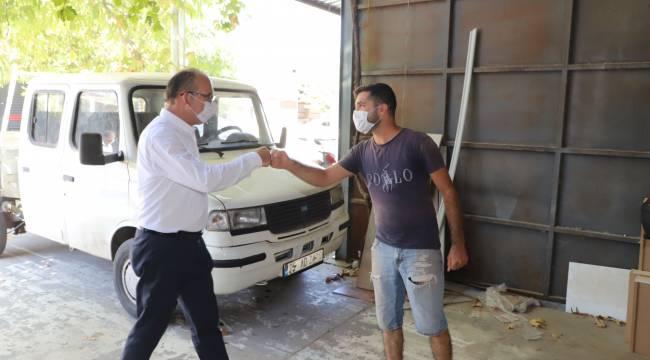 Başkan Çetin Akın'dan Sanayi Esnafına Ziyaret