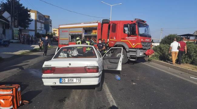 Turgutlu'da Trafik Kazası: 4 Yaralı