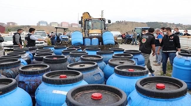 Turgutlu'da 20 ton Sahte İçki Ele Geçirildi