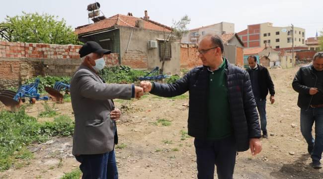 Başkan Çetin Akın'dan Ergenekon Pazar Yerinde İnceleme