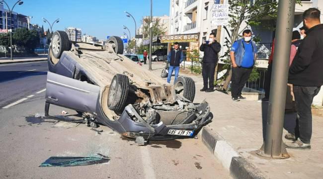 Turgutlu'da Otomobil Takla Attı: 1 Yaralı