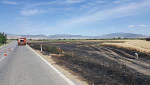 Manisa'da 20 Dönüm Buğday Tarlası Yandı
