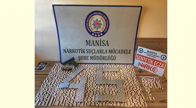 Manisa'da Uyuşturucu Operasyonu: 1702 Uyuşturucu Hap Ele Geçirildi