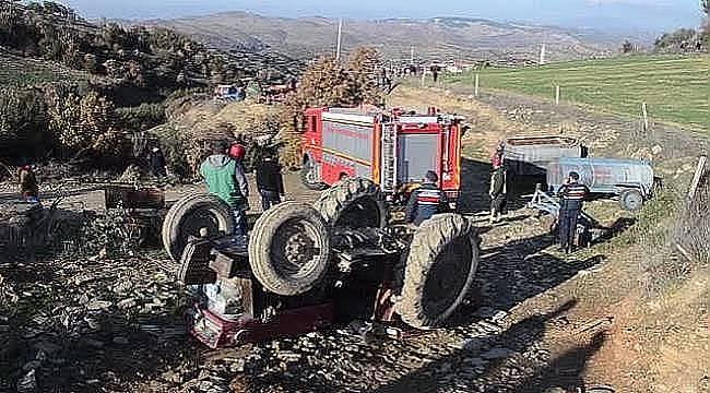 Turgutlu'da devrilen Traktörün Altında kalan Kişi Hayatını Kaybetti