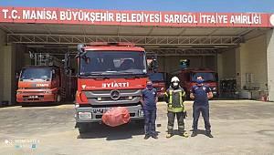 Manisa'da Manavgat Yangınına Araç ve Personel Desteği