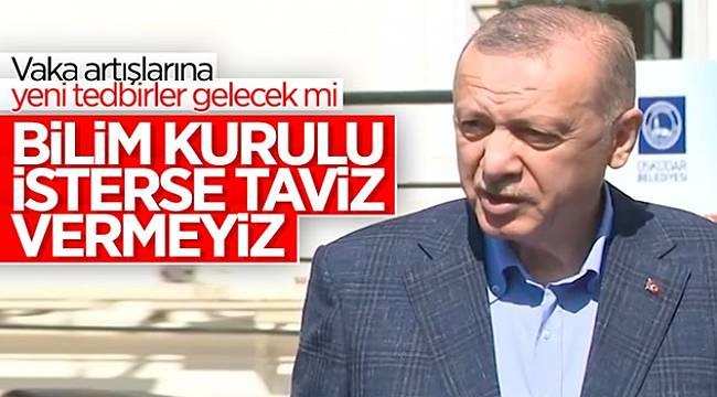 Cumhurbaşkanı Erdoğan'dan Yeni Tedbir Açıklaması