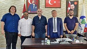 Turgutlulu Gazetecilerden Ahmetli Kaymakamı ve Belediye Başkanına Ziyaret
